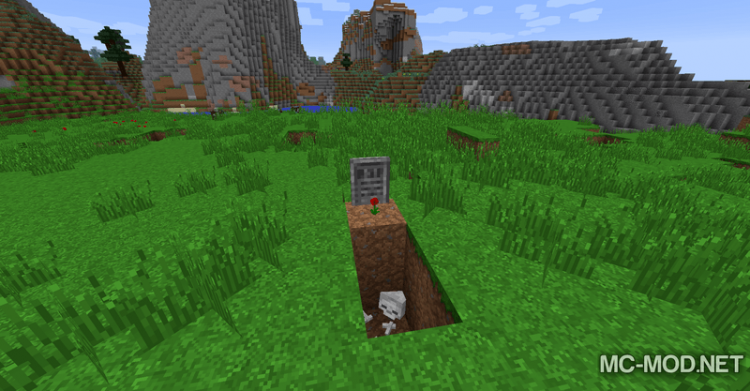 Gravestone mod Extended mod for minecraft 06