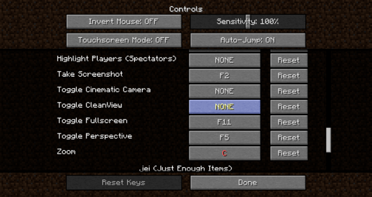 clean view mod for minecraft 01
