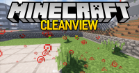 clean view mod for minecraft logo
