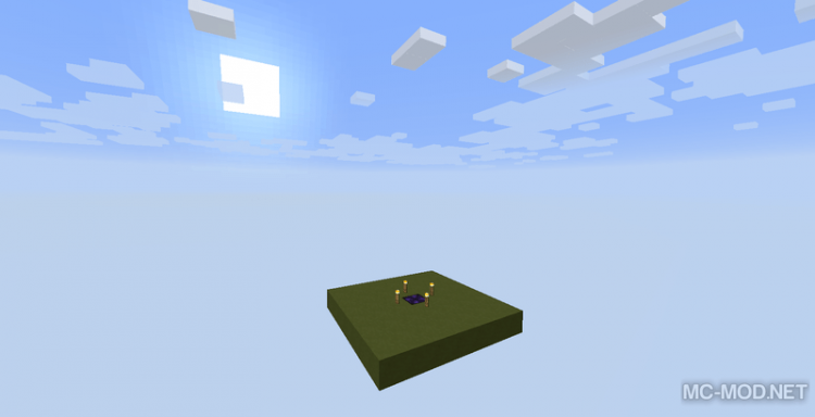 simple void world mod for minecraft 02
