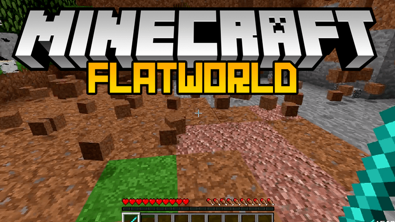 flatworld mod for minecraft logo