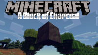 A block of charcoal mod for minecraft logo