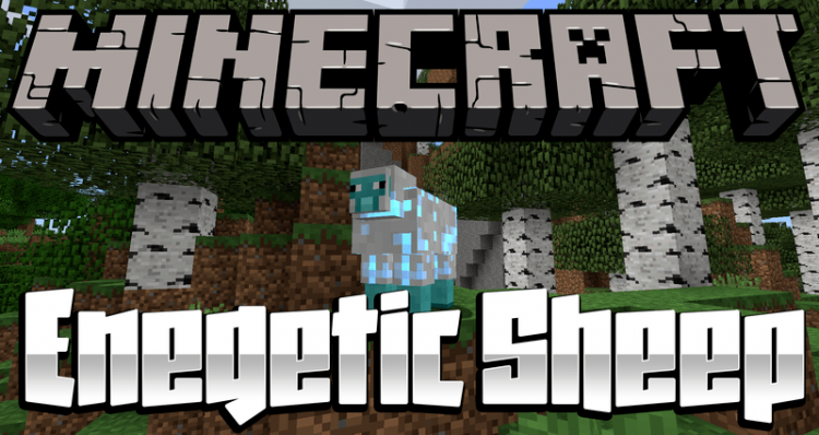 Energetic Sheep mod for minecraft logo
