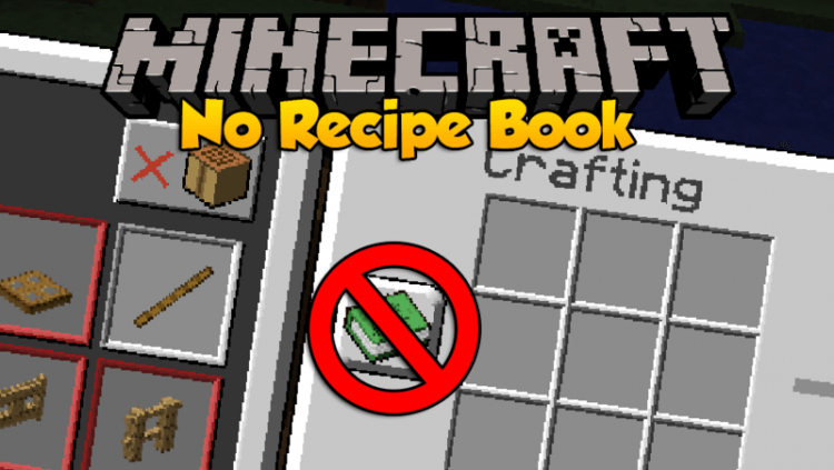 No Recipe Book mod for minecraft logo