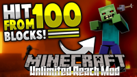 Unlimited Reach Mod for minecraft logo
