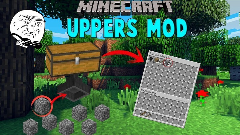 Uppers mod for minecraft logo