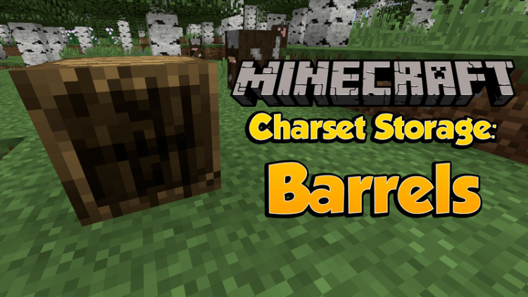 Charset Storage – Barrels mod for minecraft logo