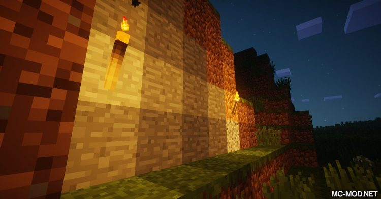 Burning Torches mod for Minecraft 01