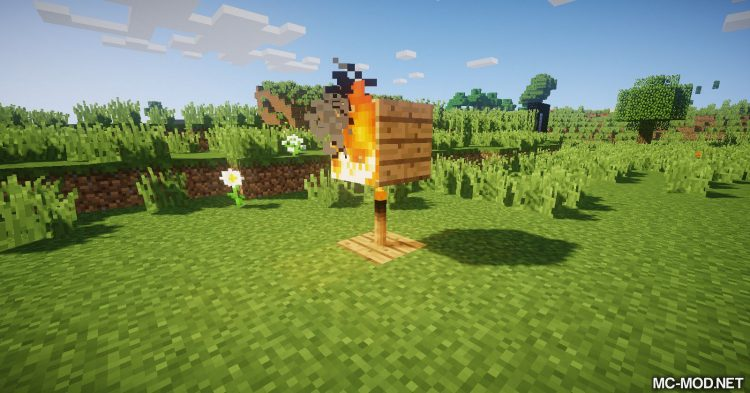 Burning Torches mod for Minecraft 07