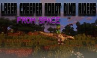 Laser Creeper Robot Dino Riders From Space mod for Minecraft logo