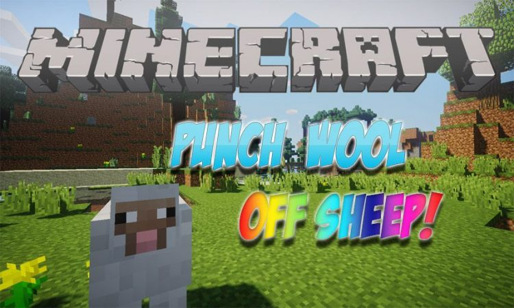 Punch Wool Off Sheep mod for Minecraft logo