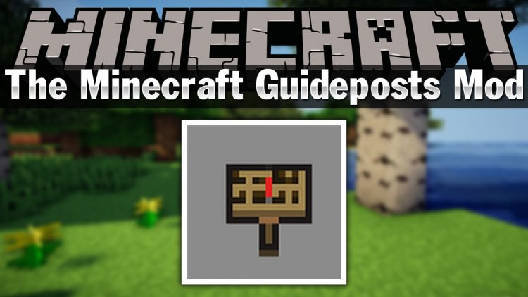 The Minecraft Guideposts Mod for minecraft logo