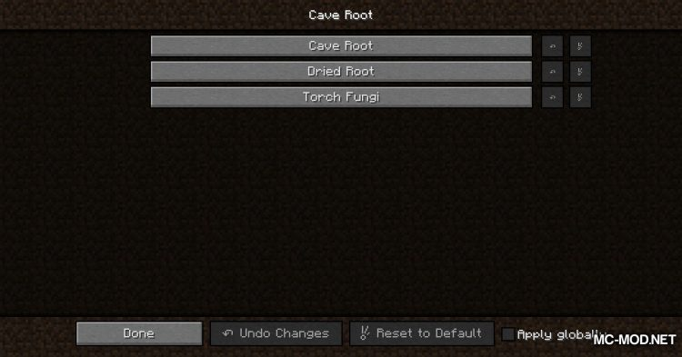 Cave Root mod for Minecraft (11)
