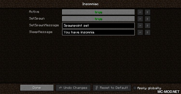 Insomniac mod for Minecraft (9)