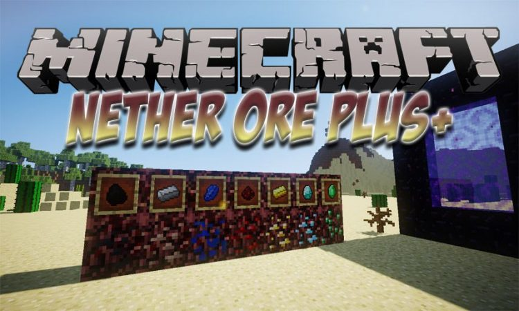 Nether Ores Plus+ mod for Minecraft logo