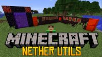 Nether Utils mod for minecraft logo