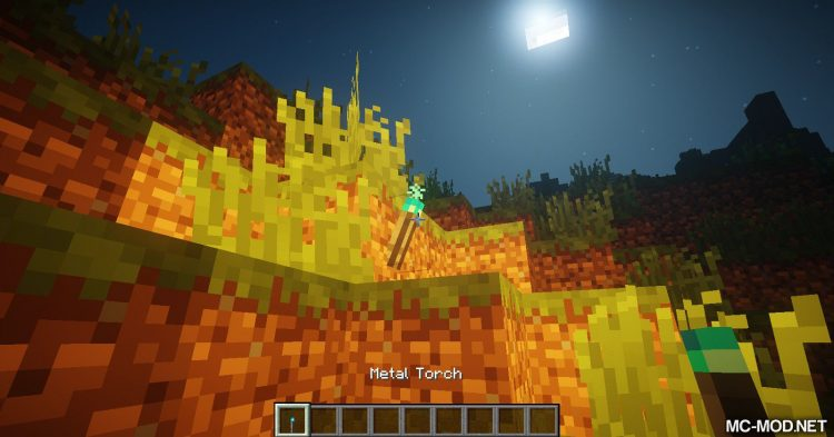 Sulfur Torches mod for Minecraft (11)