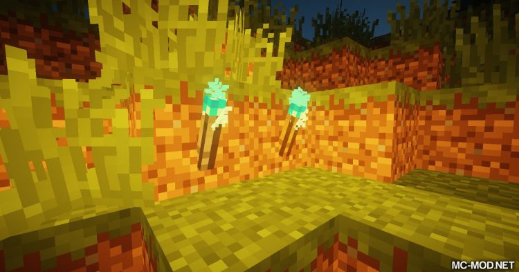 Sulfur Torches mod for Minecraft (12)