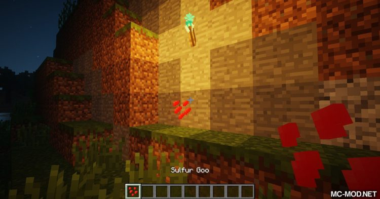 Sulfur Torches mod for Minecraft (6)