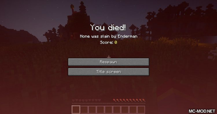 Unhealthy Dying mod for Minecraft (5)