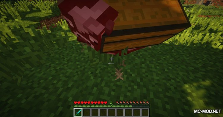Chest Cow mod for Minecraft (7)