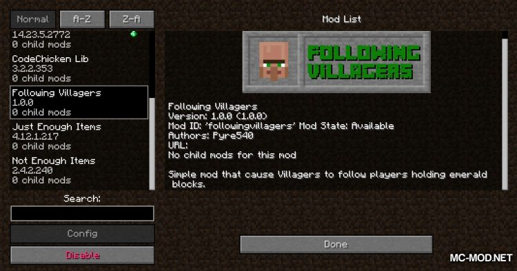 Following Villagers mod for Minecraft (11)