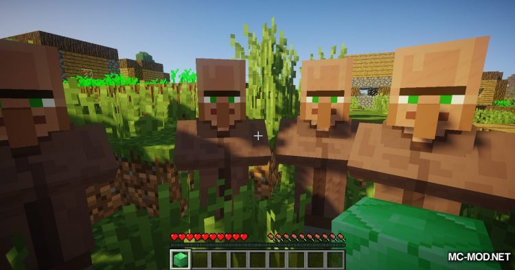 Following Villagers mod for Minecraft (5)