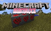 HeartBlock mod for Minecraft logo