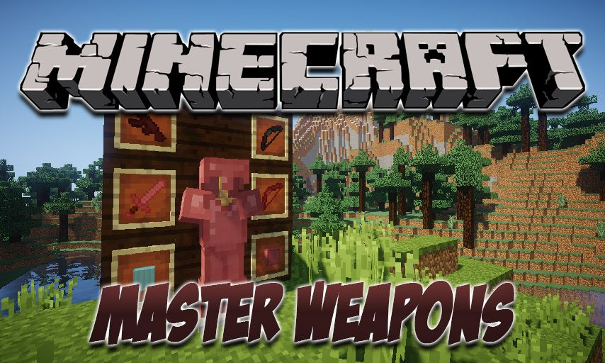Master Weapons mod for Minecraft logo