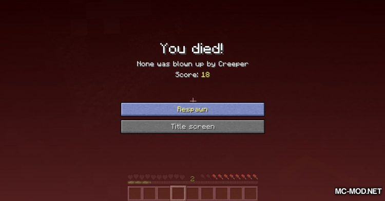 Pendant of Life mod for Minecraft (11)