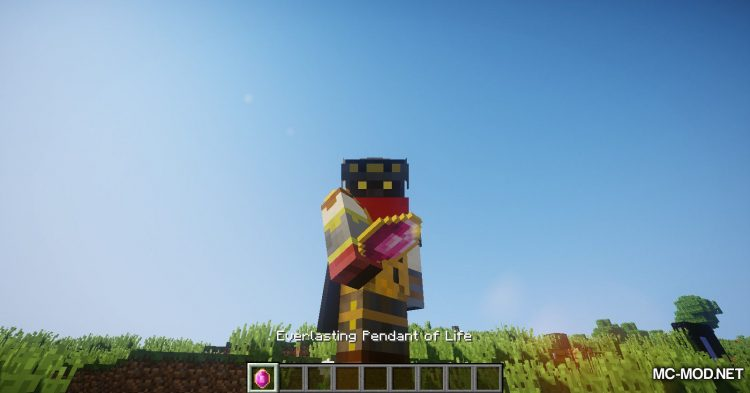 Pendant of Life mod for Minecraft (15)