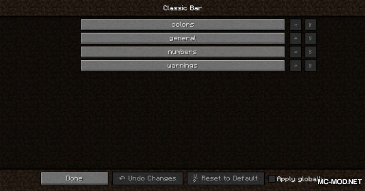 Classic Bars mod for Minecraft (2)