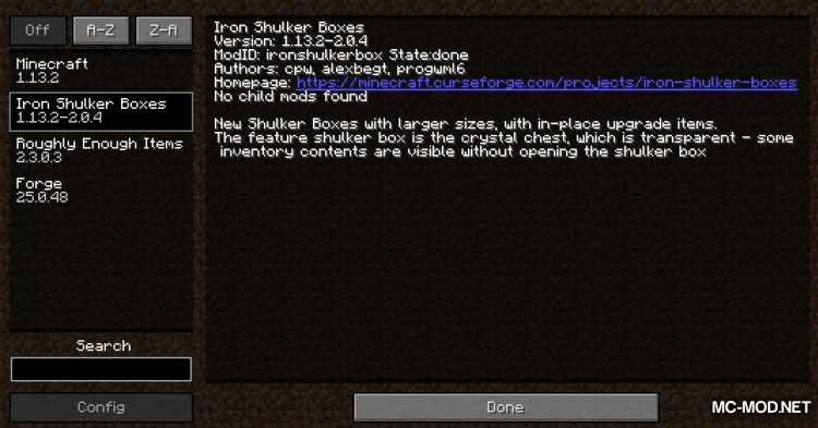 Iron Shulker Boxes mod for Minecraft (1)