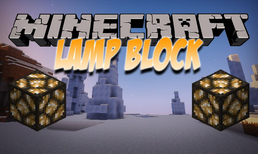 Lamp Block mod for Minecraft logo