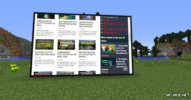 MCEF mod for Minecraft (3)
