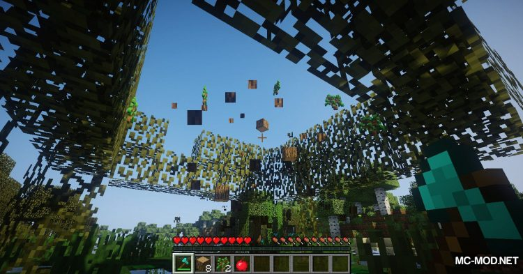 Tree Choppin mod for Minecraft (10)