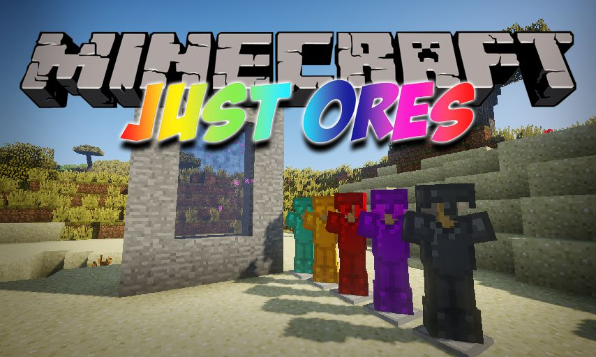 Just Ores mod for Minecraft logo