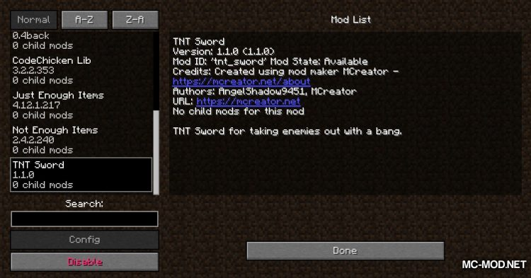 TNT Sword mod for Minecraft (1)