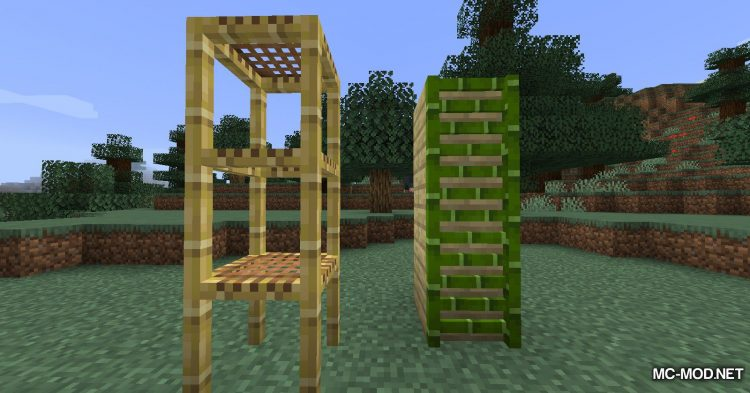 Bamboo Ladders mod for Minecraft (12)