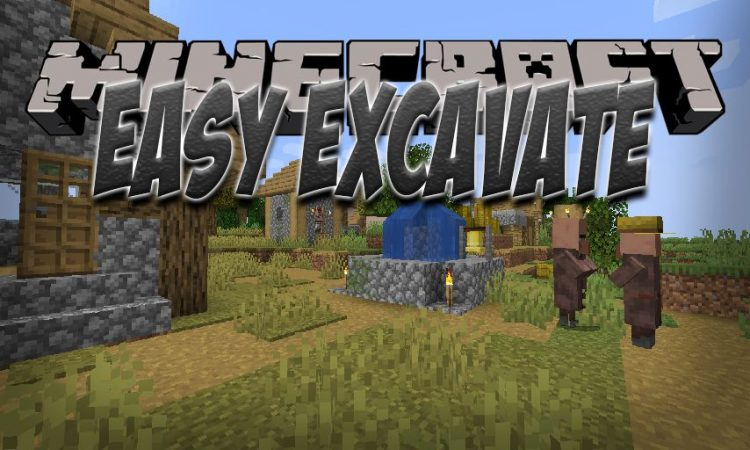 EasyExcavate mod for Minecraft logo