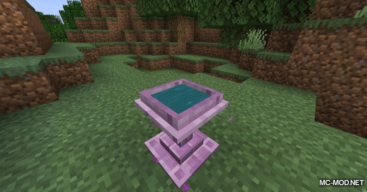 Fancy Fountain Passage mod for Minecraft (3)