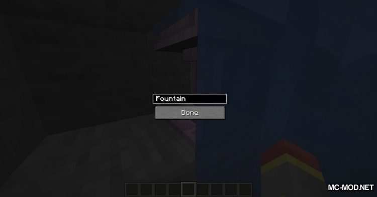 Fancy Fountain Passage mod for Minecraft (6)