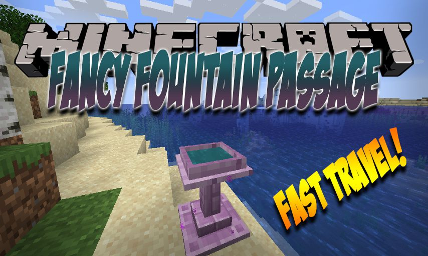 Fancy Fountain Passage mod for Minecraft logo