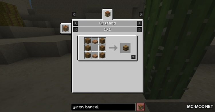 Iron Barrels mod for Minecraft (3)