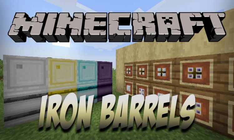 Iron Barrels mod for Minecraft logo