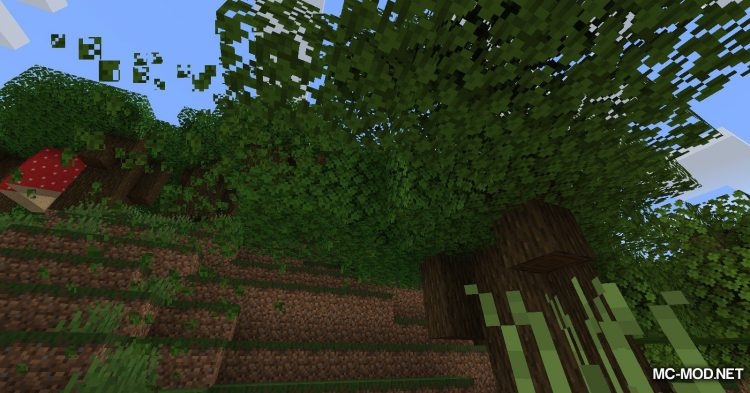 Leaf Decay mod for Minecraft (10)