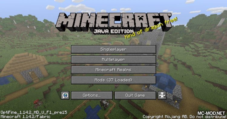 OptiFabric mod for Minecraft (2)