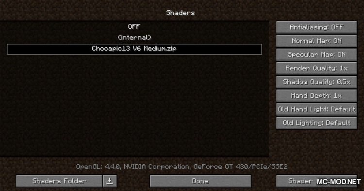 OptiFabric mod for Minecraft (6)