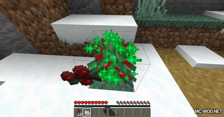 Sneak Through Berries mod for Minecraft (10)
