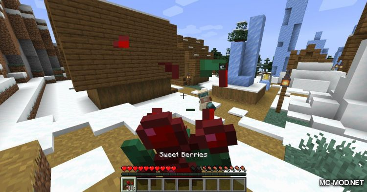 Sneak Through Berries mod for Minecraft (11)
